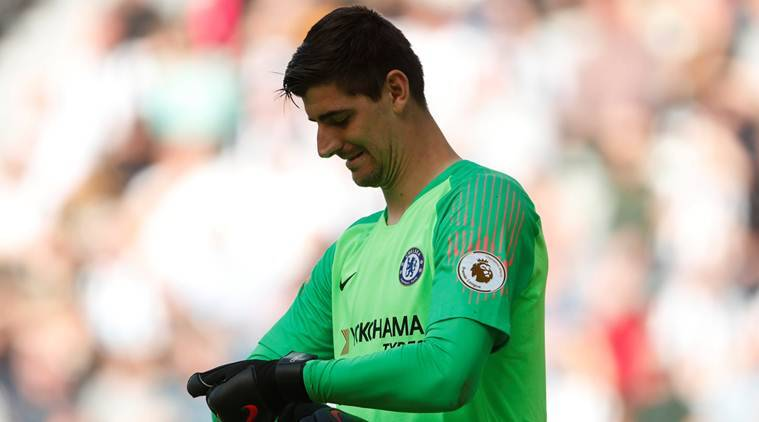 Thibaut Courtois, Thibaut Courtois Chelsea, Chelsea Thibaut Courtois, Jose Mourinho, Jose Mourinho Manchester United, Manchester United Jose Mourinho, FA Cup final, sports news, football, Indian Express