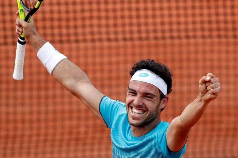 Image result for marco cecchinato french open 2018