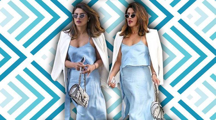 Priyanka Chopra, Priyanka Chopra latest photos, Priyanka Chopra fashion, Priyanka Chopra street style, Priyanka Chopra jumpsuits satin, Priyanka Chopra Bottega Veneta, are priyanka chopra nick jonas dating, indian express, indian express news