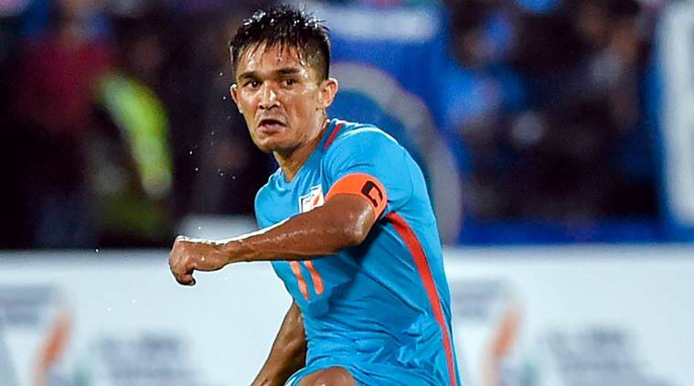 Sunil Chhetri equals Lionel Messi's tally of 64 internationalgoals