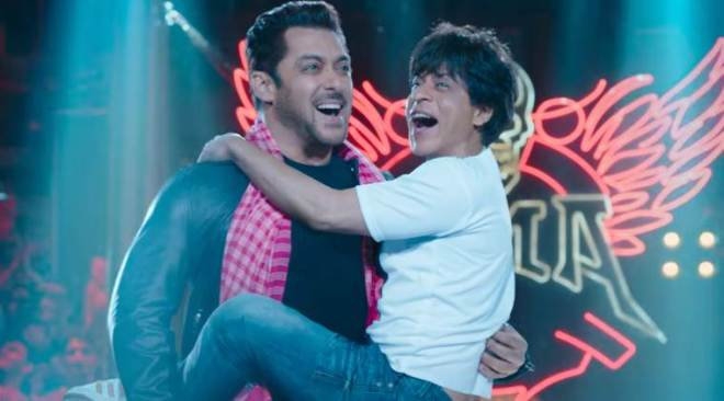 Zero teaser: Eid Ka Chaand Salman Khan and bauua Shah Rukh Khan say Eid Mubarak