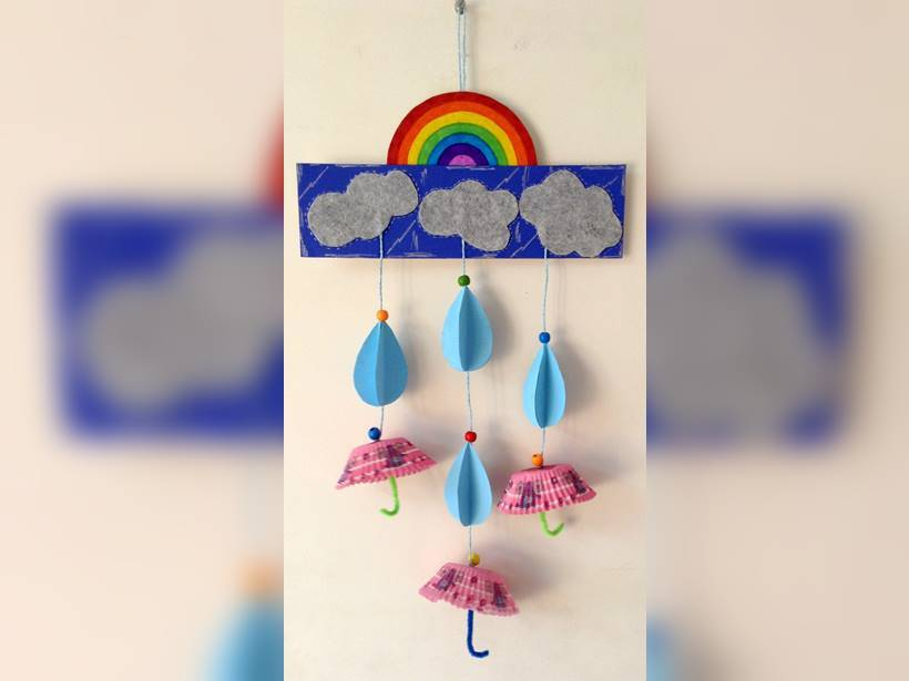 Diy Craft Make A Rainy Day Mobile Parenting News The Indian Express