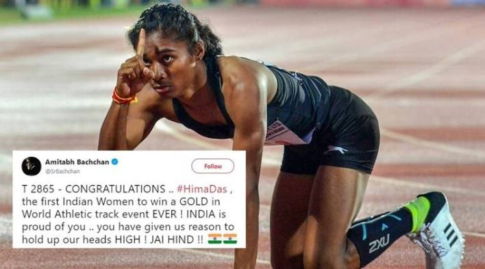Assams Hima Das becomes Indias first gold medallist in global track event; Twitterati laud her victory