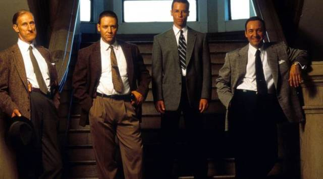 Guy Pearce calls his L.A. Confidential co-star Kevin Spacey a handsyguy