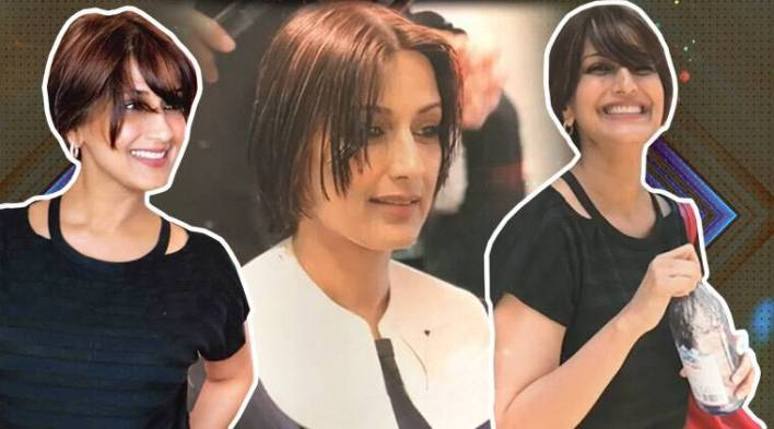 Sonali Bendre battles cancer with a bright smile and short, funky haircut