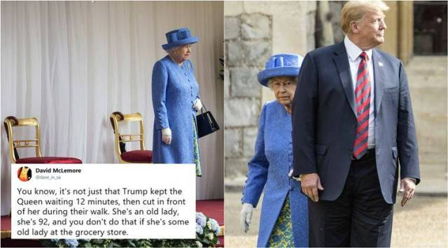 Donald Trump breaks royal protocol while meeting the Queen and Twitterati are not happy
