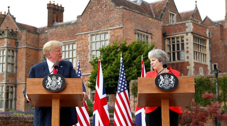 """UK PM May doing """"fantastic"""" job on Brexit, says Trump, promising trade deal"""