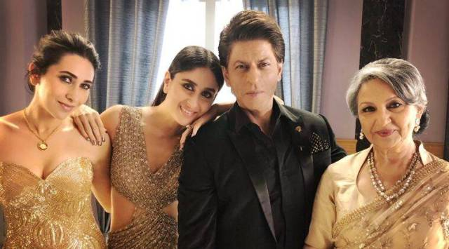 """Shah Rukh Khan spends """"lovely evening with elegant ladies"""", see photo"""