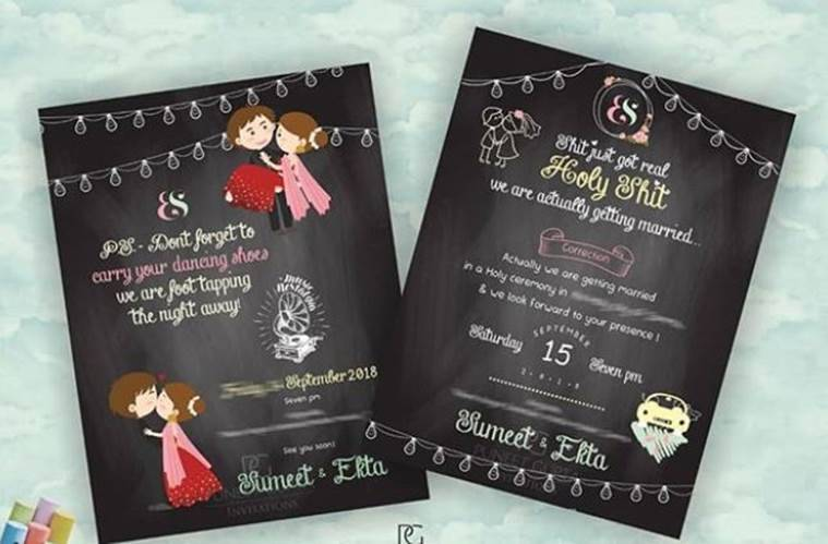 Sumeet and Ekta_s wedding invitation card