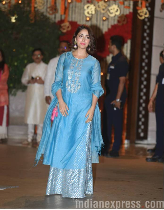 Yami Gautam  Mukesh Ambani's Ganesh Chaturthi bash: Kareena, Katrina, Madhuri, and others arrive in style yami gautam 7591