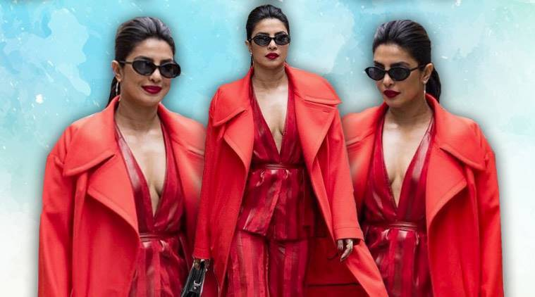 Priyanka Chopra looks ravishing in red