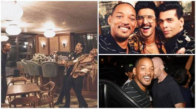 Will Smith learns the ropes of Bollywood from Karan Johar and Ranveer Singh