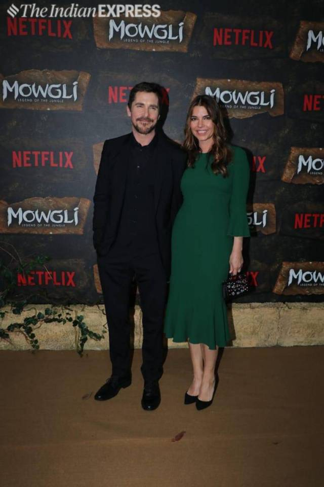 christian bale at mowgli world premiere