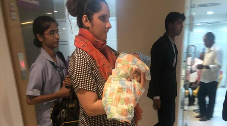Sania Mirza Goes Home With Newborn Son See Pics Sports News The Indian Express