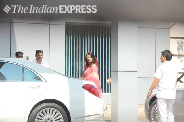 aishwarya rai bachchan leaves for isha ambani wedding