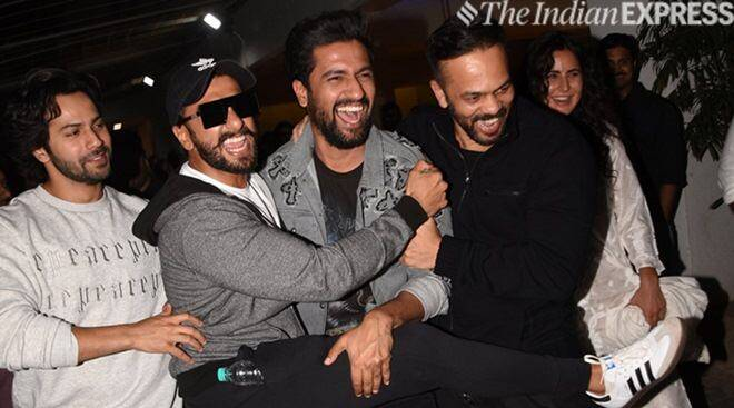 Vicky Kaushal, Ranveer Singh, Varun Dhawan And Rohit Shetty Indulge In Bromance At Uri Screening