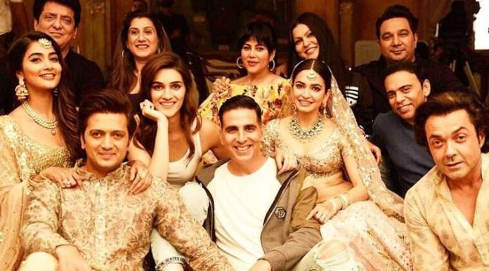 housefull 4 stars Akshay Kumar, Kriti Sanon, Kriti Kharbanda, Riteish Deshmukh, Bobby Deol and Pooja Hegde in the lead role