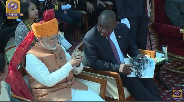 Indian Republic Day Quotes Wallpapers South African President Ramaphosa Witnesses Republic Day
