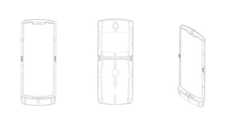 Motorola patent reveals foldable Moto Razr with clamshell