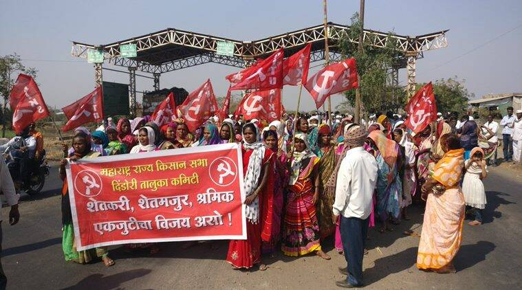 7,500 farmers reach Nashik, march from today