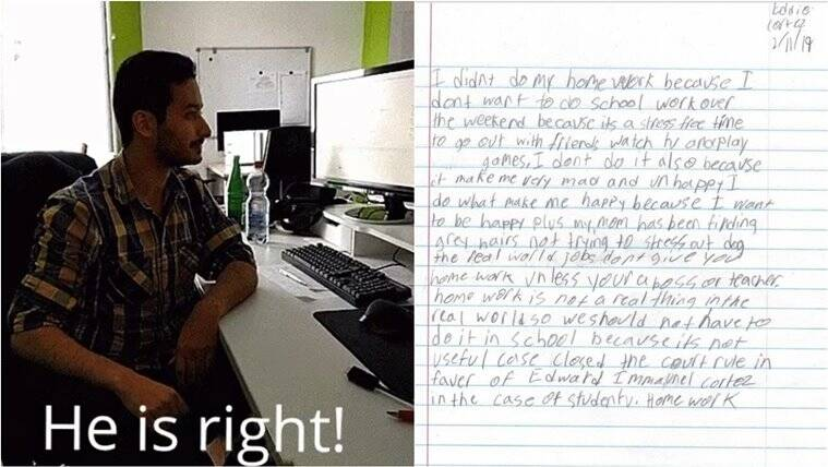 This Kid's Letter Arguing Why He Didn't Do His Homework Is Winning The Internet