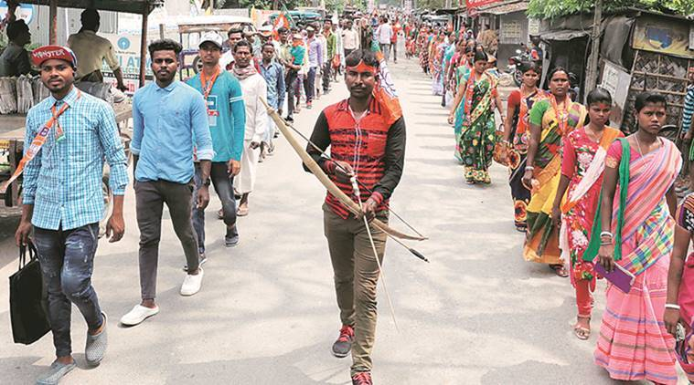 Kolkata: Hindu outfits, Trinamool Congress take out Ram Navami rallies in state