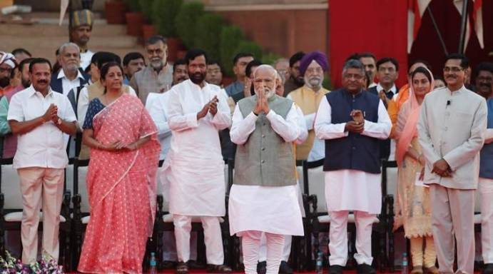Image result for modi swearing ceremony