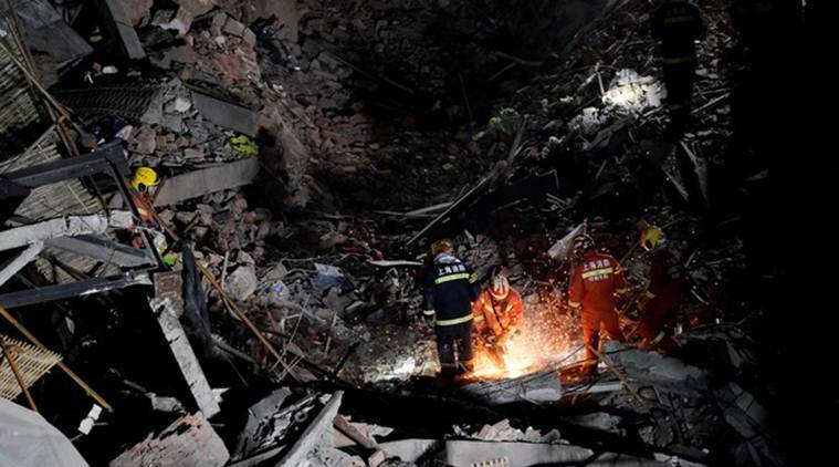 Chinese authorities say 17 people trapped in flooded mine