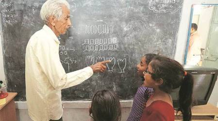 Project Second Innings: In Dahod new chapter for retired teachers and students India News The Indian Express