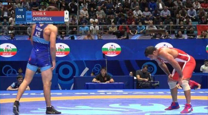 Image result for Sushil Kumar loses after returning to Worlds after eight years