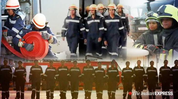 Woman firefighters, woman firefighters in Bangalore airport, Bangalore international airport, Women representation, trending, Indian Express news