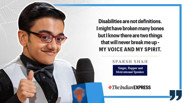 Stop treating us differently. appeals rapper Sparsh Shah. born with a rare genetic disorder | Lifestyle News.The Indian Express