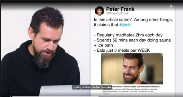 Wired interview, jack dorsey, twitter ceo interview, jack dorsey diet, jack dorsey dinner, jack dorsey food habits, jack dorsey, jack dorsey working habits, fitness jack dorsey, indianexpress.com, indianexpress,