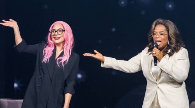 Lady Gaga and Oprah Winfrey, mental health, PTSD