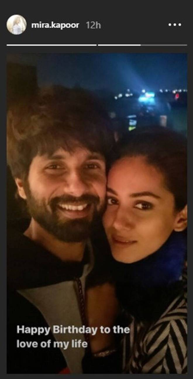 mira rajput wishes shahid kapoor birthday