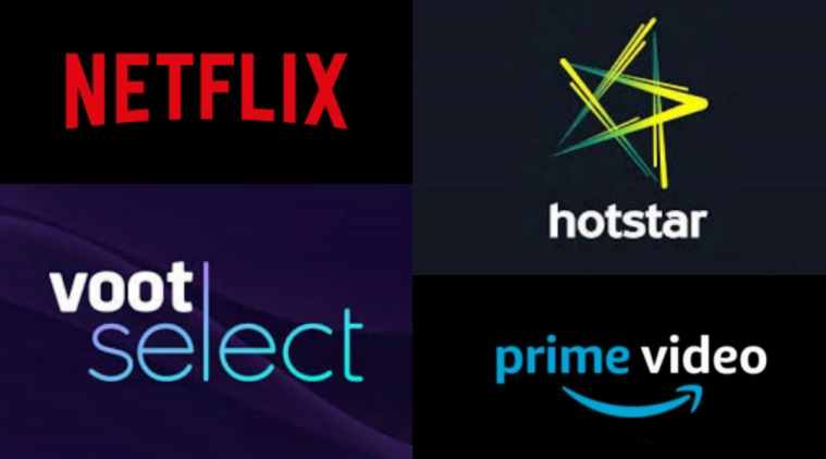 Popular streaming services in India, Netflix, Hotstar, Amazon Prime Video, YouTube Premium, Voot, MX Player, Alt Balaji, Sony Liv, Zee5