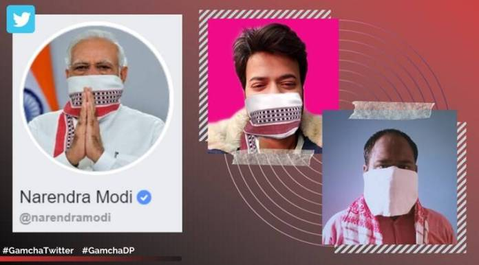 narendra modi, modi lockdown extended address, modi gamcha mask, modi gamcha mask dp, gamcha twitter, gamcha dp, wear cover stay safe, viral news, indian express