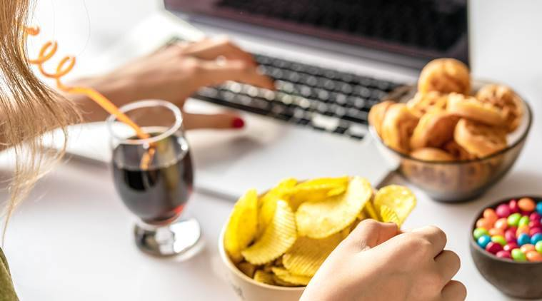stress eating, what is stress eating, how can you manage stress eating when working from home, indian express, indian express news