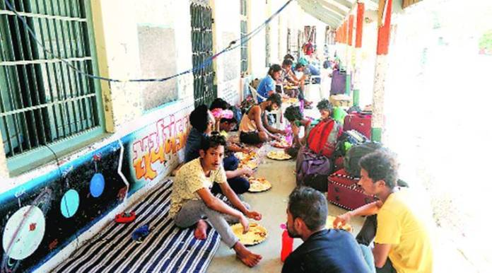 migrant workers, Bharuch district administration, special train, gujarat news, Indian express news