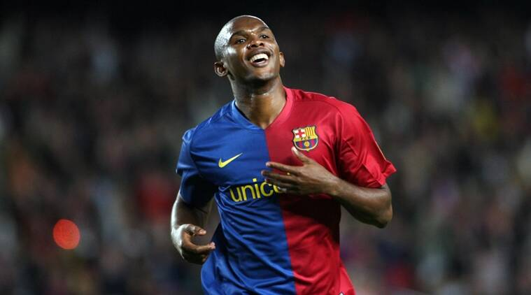 samuel etoo What was Barcelona's starting XI when Lionel Messi scored his first La Liga goal?