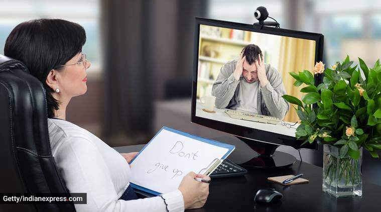 mental health issues in pandemic, online queries for mental health, stress in lockdown, anxiety, health, mental health, indian express, indian express news
