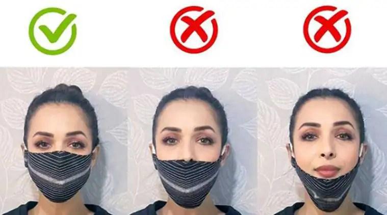 malaika arora, face mask