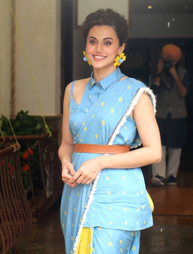 tapsee1 1 - Taapsee Pannu turns 33: We need to talk about how pretty she looks in a sari