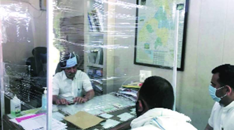 Punjab 2 - At meetings with Punjab politicians, water-proof shields, UV sanitisers for files