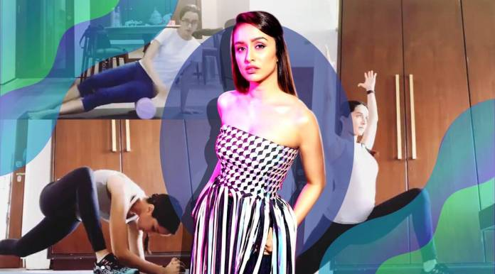 shraddha kapoor news, fitness goals, stretching, indianexpress.com, indianexpress, shraddha kapoor fitness, shraddha kapoor pics, mobility drills, foam rolling, home workouts, pandemic,