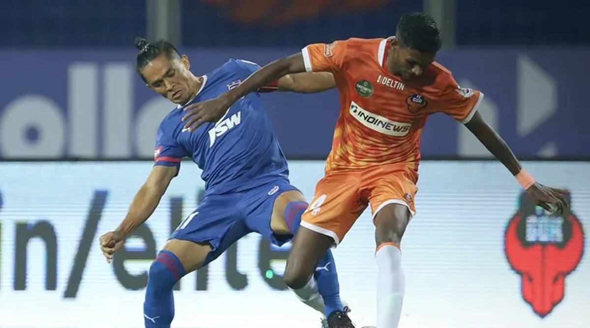 bengaluru goa Igor Angulo's brace helps FC Goa hold Bengaluru FC to a draw