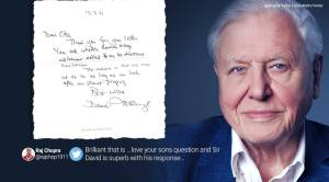 'Sir David is 94. It's a surprise': Attenborough's 'beautiful' response about a worrying 4-year wins online praise