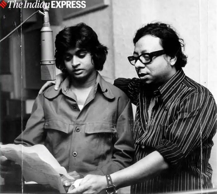 R.D.Burman with his son Kishore Kumar