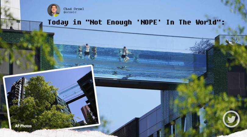 'Hell, NO!': London's transparent Sky Pool is giving nightmares to people online
