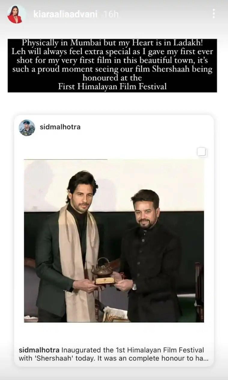 Kiara Advani Himalayan Film Festival